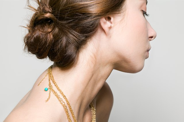 Profile of a young woman