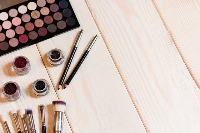 Neutral eye shadows set for make-up artist