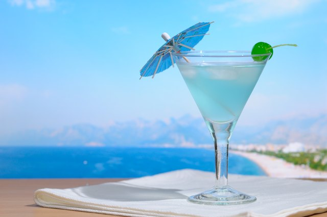 Cocktail against sea