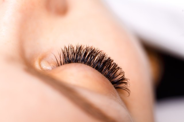 Long, curly eyelashes