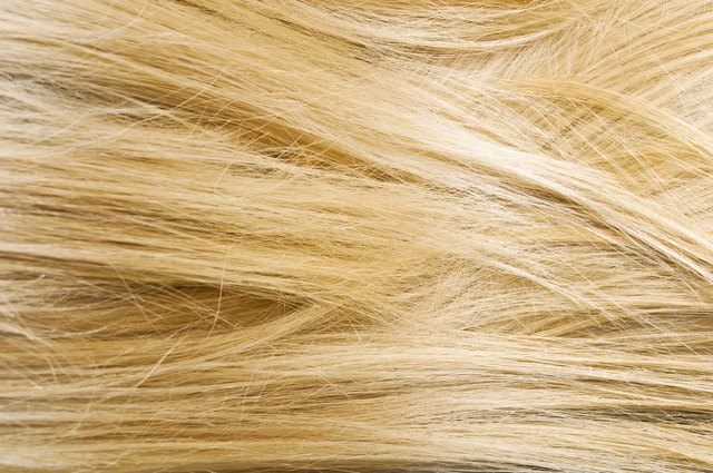 Texture of blond woman hair