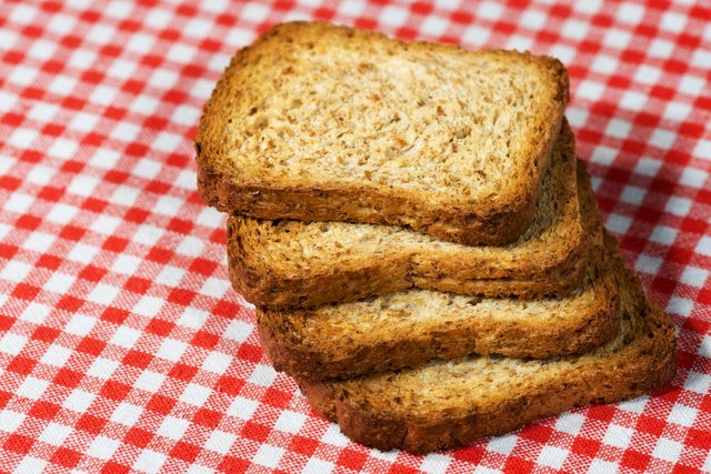Rusks of Wholemeal Flour on Tablecloth