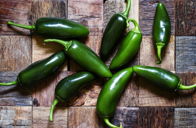 Spicy green peppers