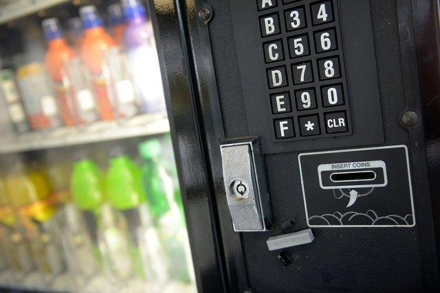 Vending machine closeup