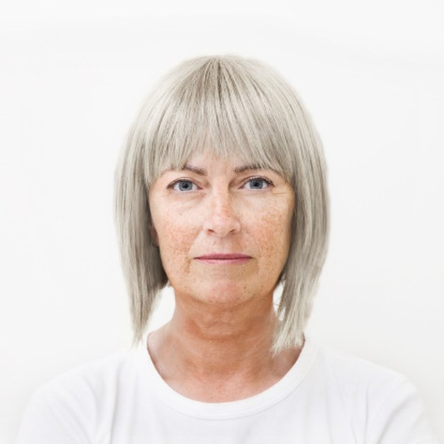 Permanent color is needed to cover grey hair.