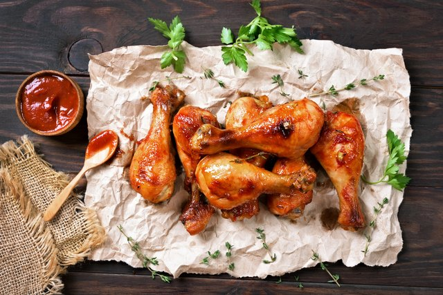 Grilled chicken drumstick