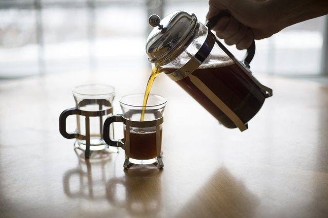 French Press Coffee Pour