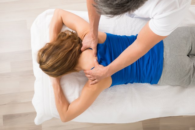 Woman Receiving Body Massage