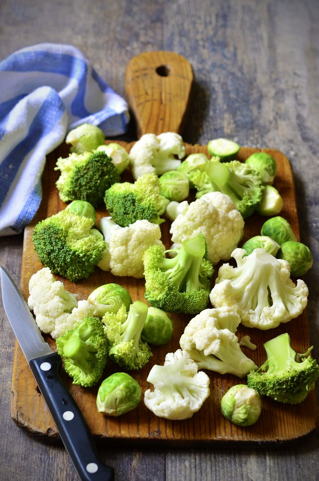 Brussels sprout,broccoli and cauliflower.