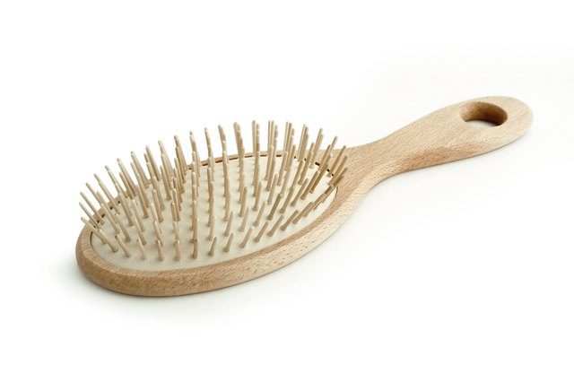 clean hairbrush