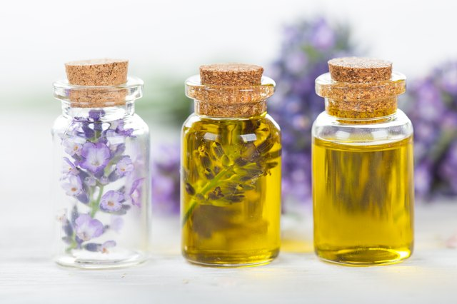 Lavender flowers with essential oils