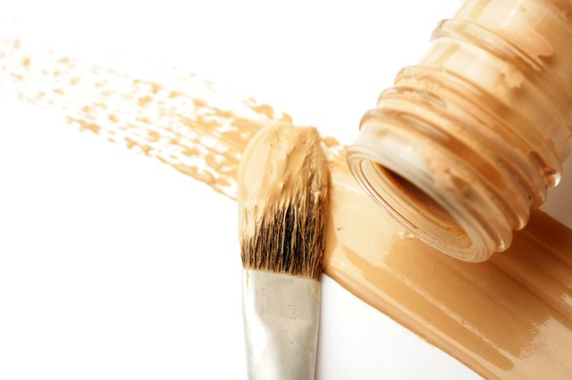 Brown or beige colored foundation make up