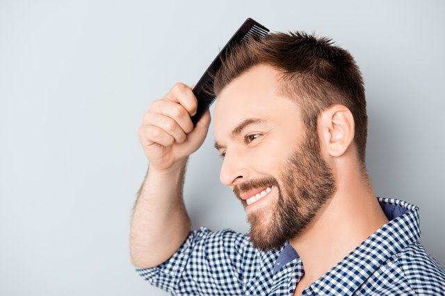 how to get a wet look hairstyle for men
