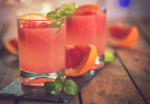 Tequila Paloma Cocktail With Fresh Grapefruit