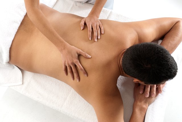 Man receiving a relaxing massage