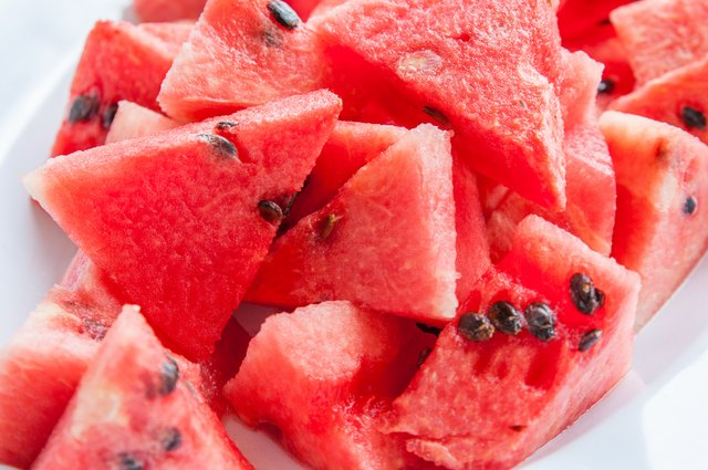 Bunch of sliced watermelons