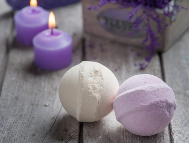 SPA Bath Bombs closeup