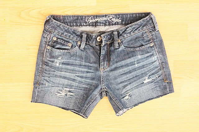 How to Make Distressed Jean Shorts From Old Jeans | LEAFtv