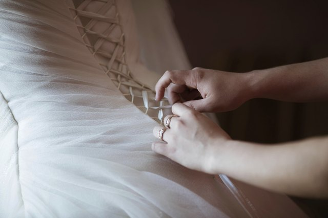 bride dresses a wedding dress