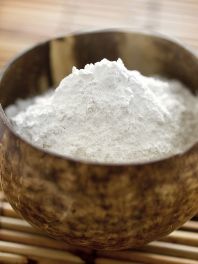bowl of white flour