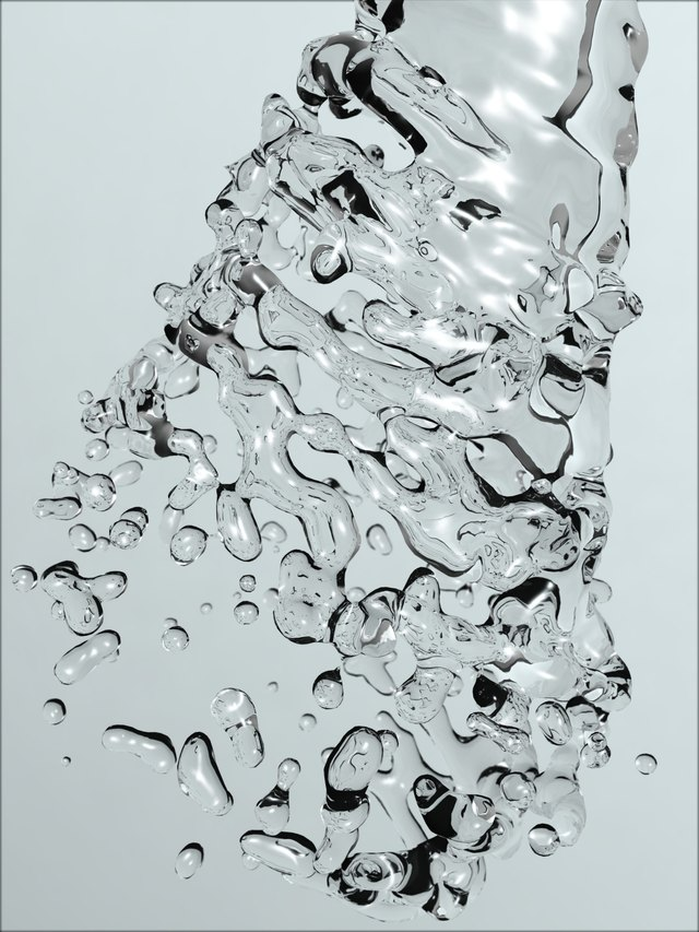 Water splash abstract background