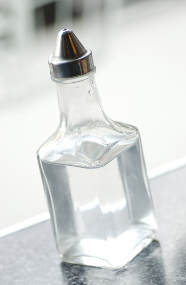 Clear liquid in container