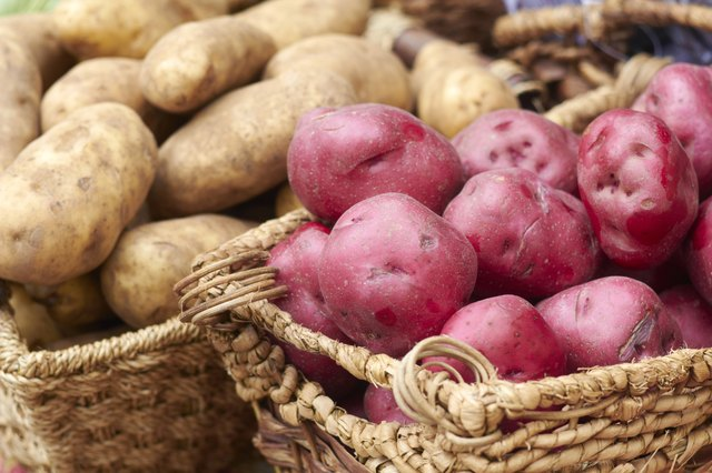 Fresh Raw Potatoes For Sale At the Market