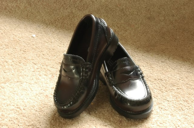 black Penney loafer shoes