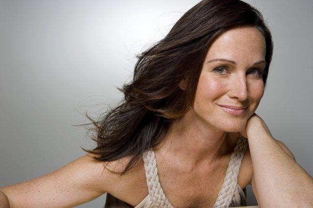 Woman smiling, portrait, close-up
