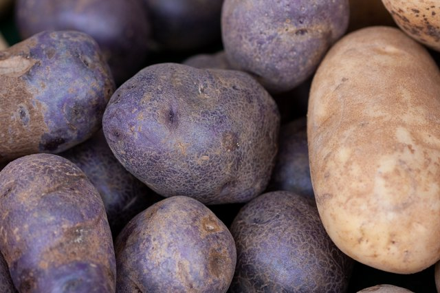 purple & white potatoes