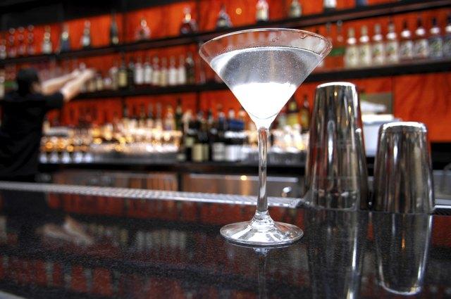 Martini Straight Up on Bar