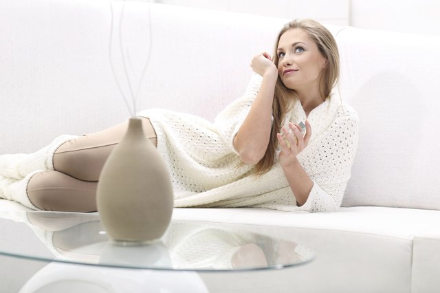 Woman perfume wrist