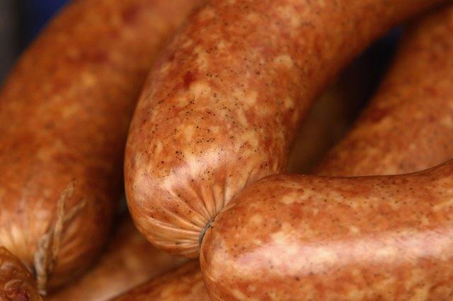 Close-up of sausage links