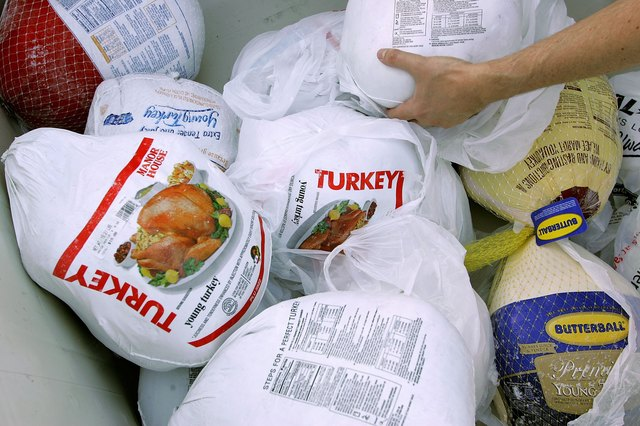 Food Bank Hands Out Turkeys Ahead Of Thanksgiving