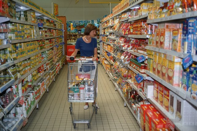 Woman shopping for groceries