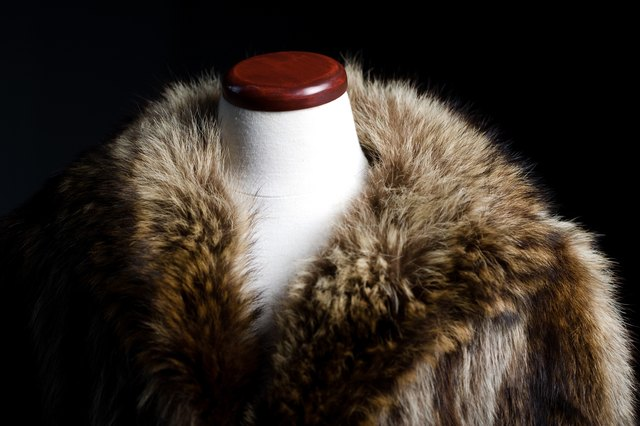 Fur coat on mannequin