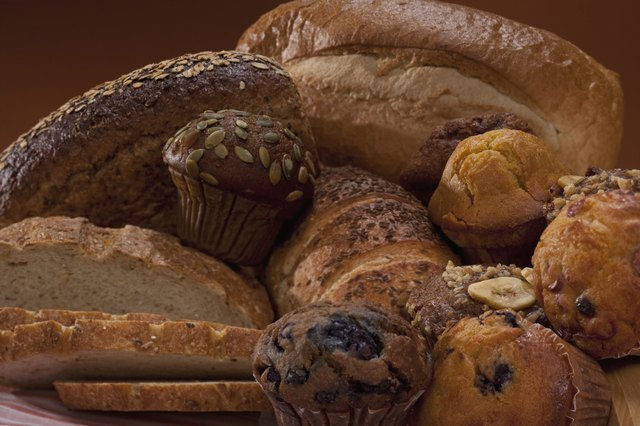Assorted breadsn and muffins