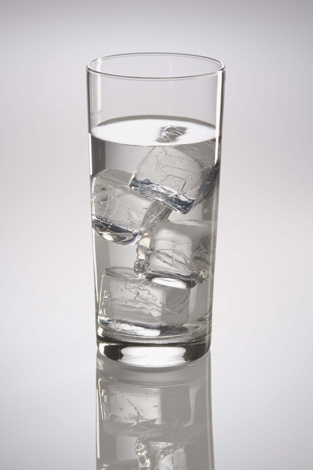 Glass of ice water