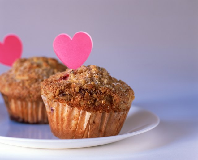 Muffins with hearts