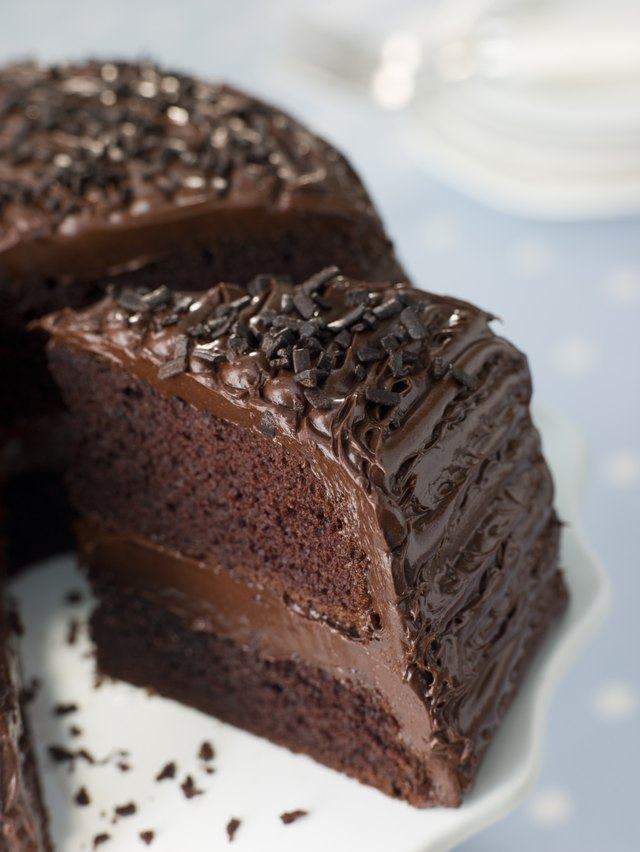 Slice Of Chocolate Fudge Cake
