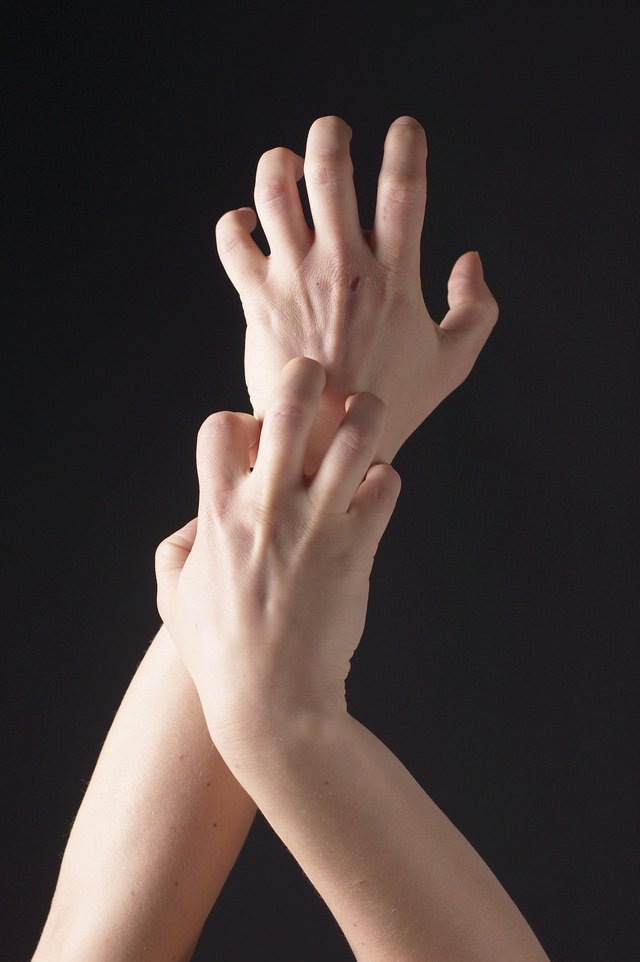 Person scratching arms