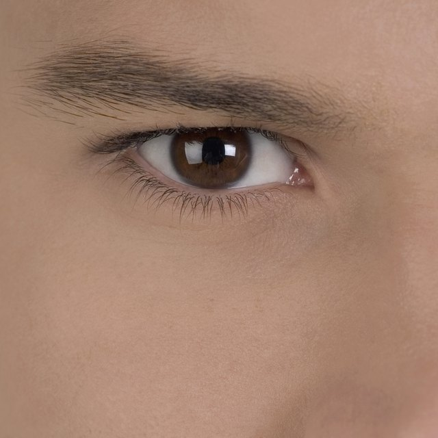 Extreme close-up of a young man's eye