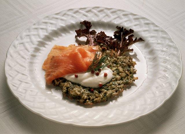 Herb Rice Cakes with Smoked Salmon