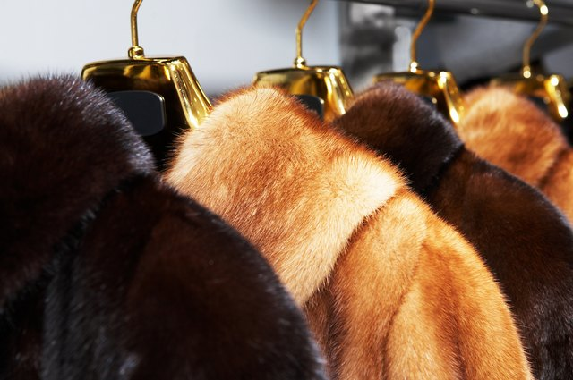 Rich female fur coats
