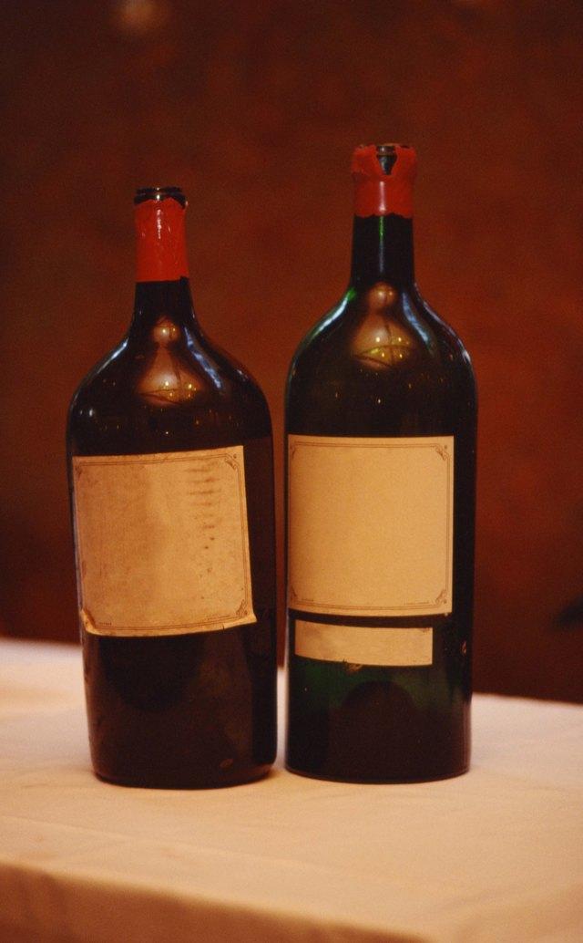 Vintage red wine