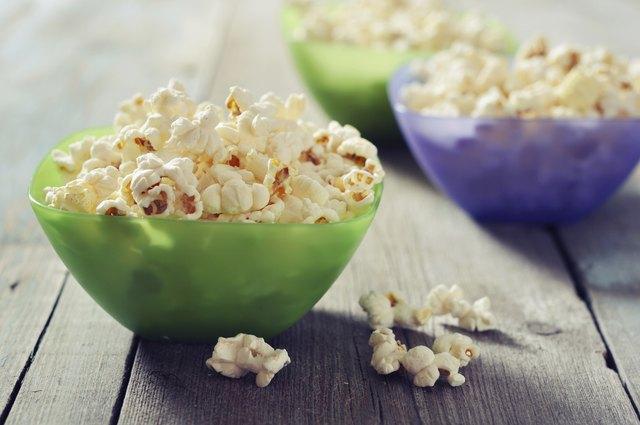 Popcorn in plastic bowls