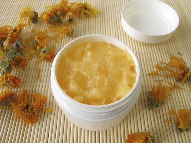 Hand cream with marigold