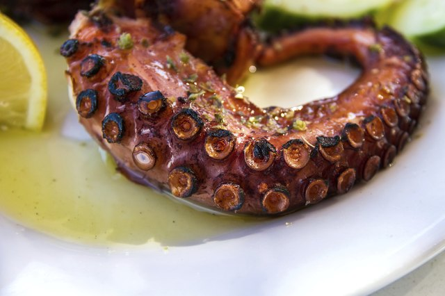 Delicious Cooked Octopus, Served on a Plate