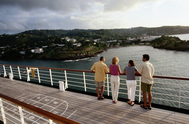 Couples on Deck of Cruise Ship