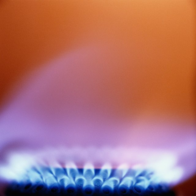 Close-up of Flame From Gas Burner